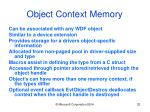 object context memory