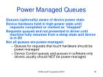 power managed queues