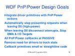wdf pnp power design goals38