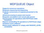 wdfqueue object