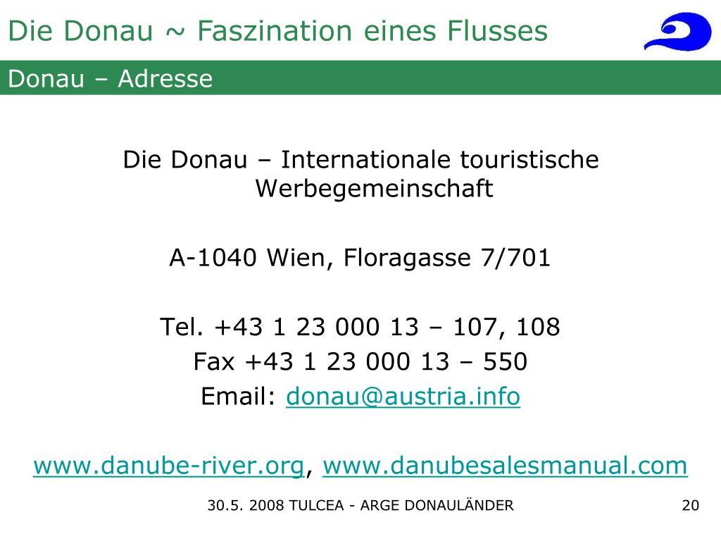 Donau – Adresse