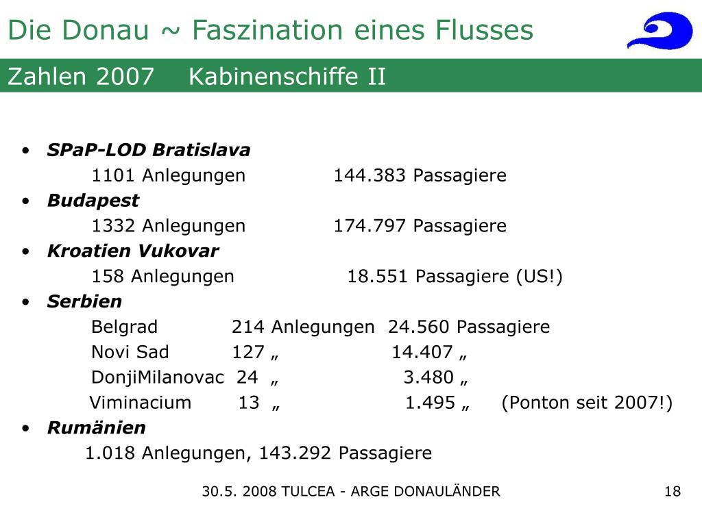 Zahlen 2007    Kabinenschiffe II
