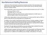 new behavioural staffing resources
