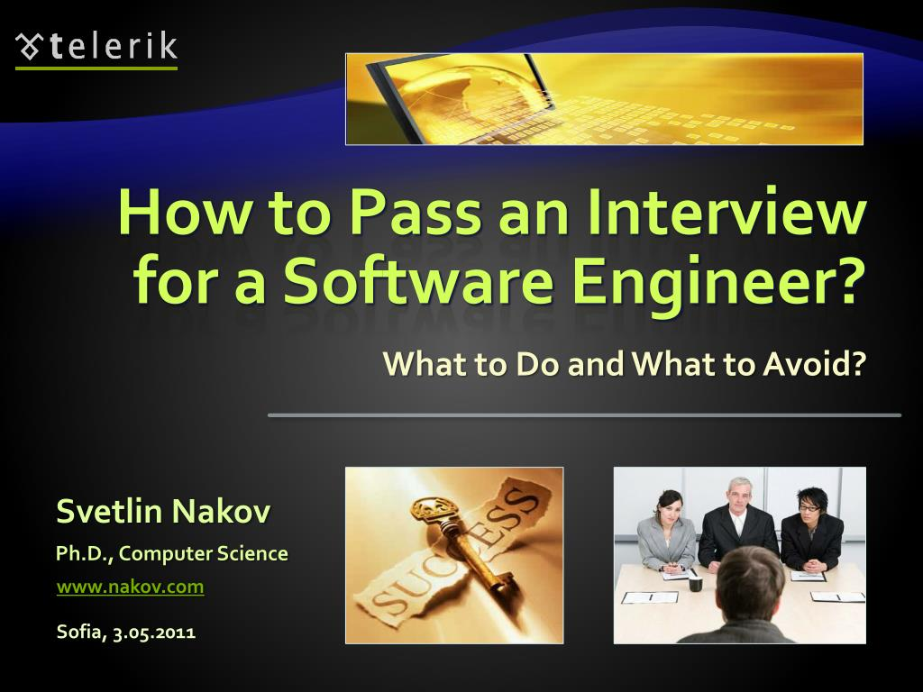 how to pass an interview for a software engineer l.