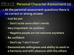 personal character assessment 2