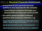 personal character assessment