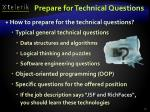 prepare for technical questions