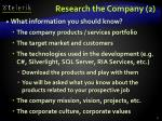 research the company 2