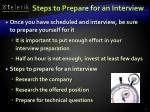steps to prepare for an interview