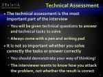 technical assessment
