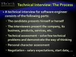 technical interview the process