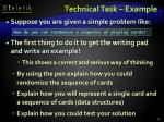 technical task example