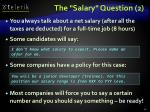 the salary question 2
