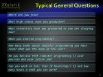 typical general questions