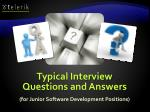 typical interview questions and answers