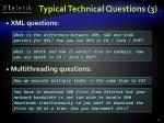 typical technical questions 3