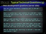 typical technical questions 5