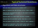 typical technical questions