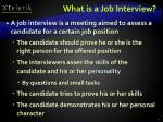 what is a job interview4