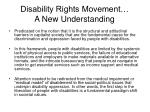 disability rights movement a new understanding