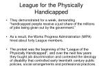 league for the physically handicapped17