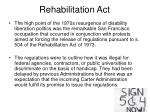 rehabilitation act