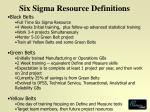 six sigma resource definitions