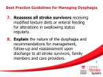 best practice guidelines for managing dysphagia7