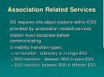 association related services