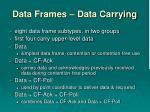 data frames data carrying