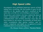 high speed lan s