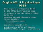 original 802 11 physical layer dsss