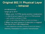original 802 11 physical layer infrared