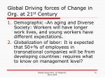 global driving forces of change in org at 21 st century
