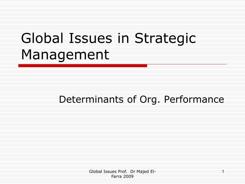 global issues in strategic management l.