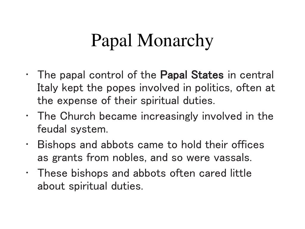papal monarchy l.