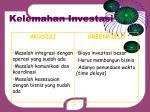 kelemahan investasi