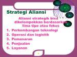 strategi aliansi