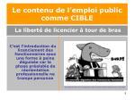 le contenu de l emploi public comme cible5