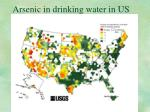 arsenic in drinking water in us