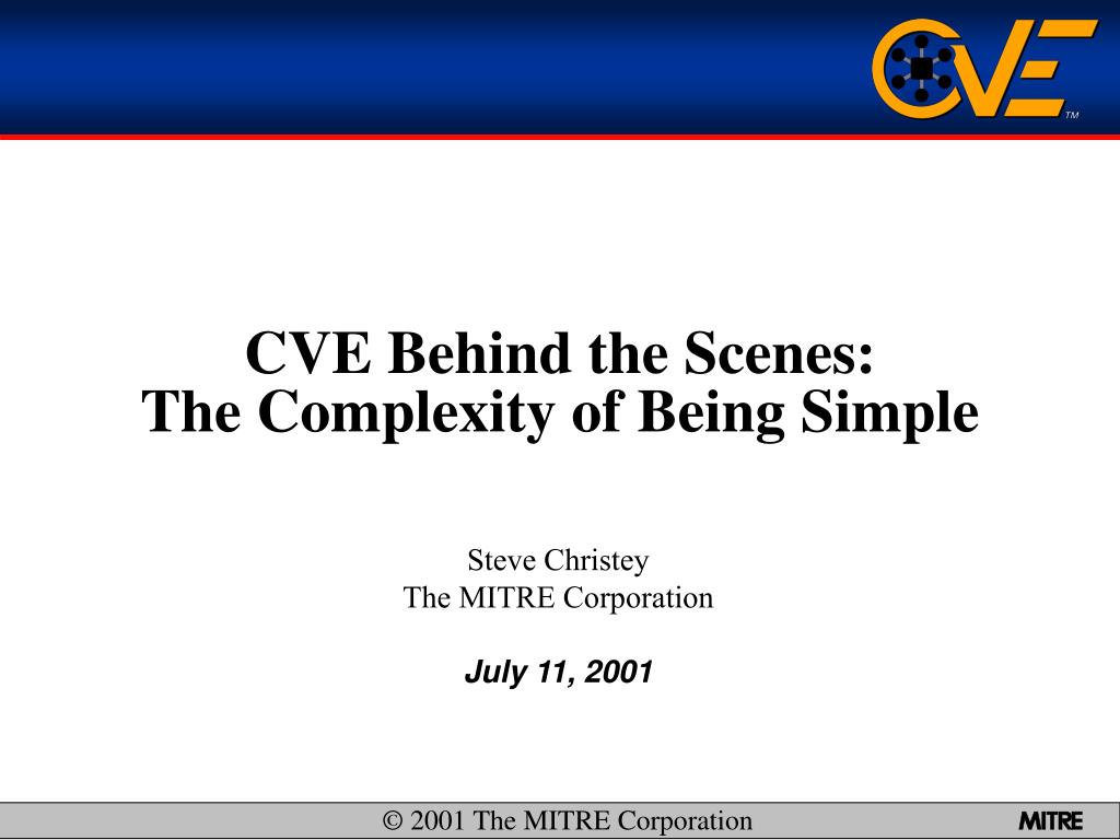 cve behind the scenes the complexity of being simple l.