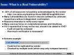 issue what is a real vulnerability
