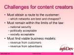 challenges for content creators
