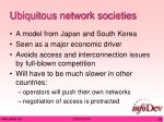 ubiquitous network societies