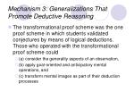 mechanism 3 generalizations that promote deductive reasoning