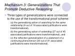mechanism 3 generalizations that promote deductive reasoning26