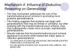 mechanism 4 influence of deductive reasoning on generalizing
