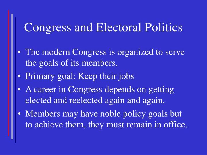 Congress and Electoral Politics