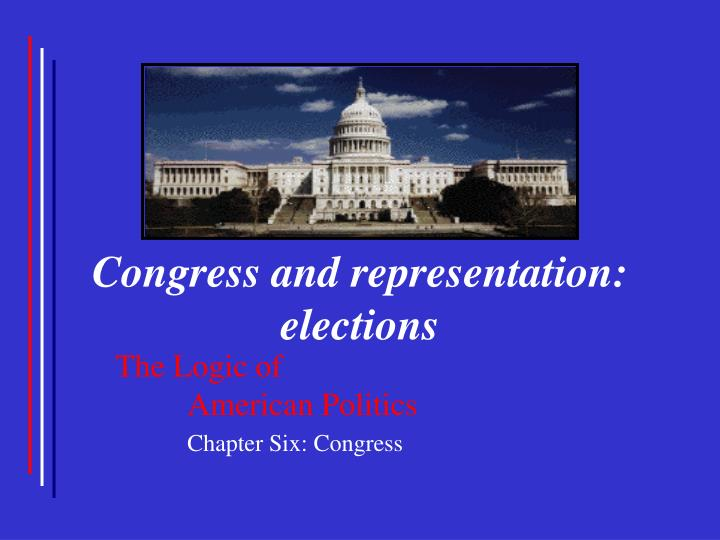 congress and representation elections n.