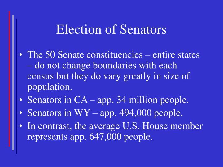 Election of Senators
